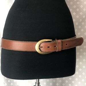 Coldwater Creek Beaded Leather Belt